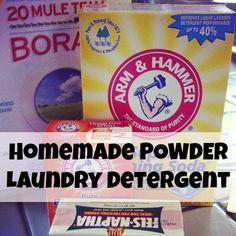 homemade POWDER laundry detergent recipe