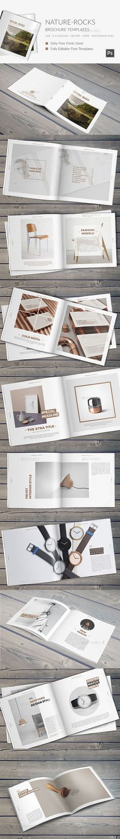 Nature-Rocks Square Portfolio Brochure Template PSD #design Download: http://graphicriver.net/item/naturerocks-square-portfolio-brochure-template/13542410?ref=ksioks: