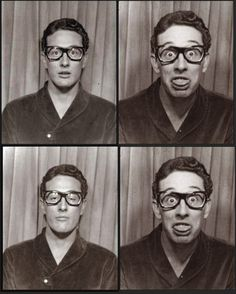 weareourowndevils:Buddy Holly- photo booth-, NYC Grand Central Station 1959