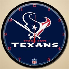 Houston Texans 12'' Round Wall Clock