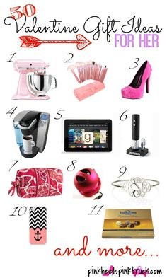 50 Valentine Gift Ideas for Her