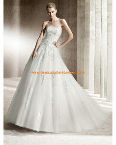 Luxuriöse maßgeschneiderte Brautkleider aus Organza und Satin 2012 Bestseller A-Linie Applikation