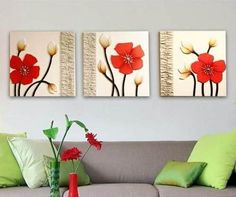 We can choose painted paper, paint or mirrors, for … Acrylic Art, Acrylic Painting Canvas, Canvas Art, Glue Art, Clay Wall Art, Decorating With Pictures, Painted Paper, Flower Wallpaper, Beautiful Paintings