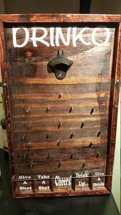 Drinko Plinko Bottle Opener Game by HoosierWoodbox on Etsy #woodworkingforbeginners