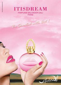 salvador dali Cologne, Salvador Dali Perfume, Perfume Bottles, Advertising, Cosmetics, Fragrances, Ad Campaigns, Vogue, Models