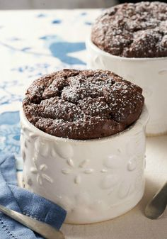Chocolate Soufflés for Two – Airy, puffy chocolate heaven just for the two of you. This dessert tastes like a night out on the town—only at home.