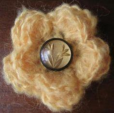 Button Blossom Brooch