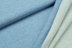 Sommersweat uni hell jeansblau meliert | Sweat | Stoffe | Traumbeere