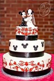 My actual Disney Wedding cake!!! only it would be all black. no red