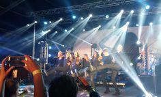 Tarja Turunen and her band: Kevin Chown, Christian Kretschmar, Ralf Gustke, Alex Scholpp and Max Lilja, at Vaakuna Piknik, Finland 2016. PH Instagram of @lav_linda #tarja #tarjaturunen #vaakunapiknik