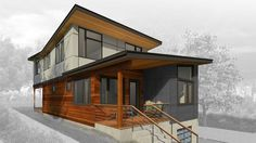 Method Homes Option Series 3 Story Prefab Home Modern Modular Homes, Prefab Modular Homes, Prefab Container Homes, Modular Home Builders, Prefab Houses, Cheap Prefab Homes, Modular Housing, Container Houses, Cheap Land For Sale