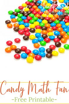 Discover how to make math fun by using candy to learn to count by multiples, in addition and subtraction, includes a free candy math fun printable! #Candy #Math #CandyMath #Homeschool #Homeschooling #YearRoundHomeschooling #Printable Math For Kids, Fun Math, Printable Cards, Free Printables, Counting By 2, Learn To Count, Adding And Subtracting, Free Candy, Addition And Subtraction