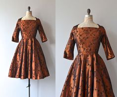 Limerence dress | vintage 1950s dress • 50s metallic party dress