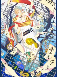Tags: Anime, Fanart, Natsume Yuujinchou, Pixiv, Nyanko-sensei   Brain's Base   Yuki Midorikawa