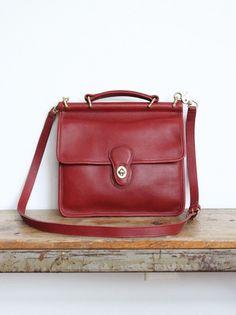 Vintage Coach Bag // Willis Bag Red // by magnoliavintageco