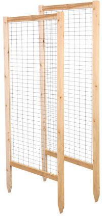 Greenes Fence 2 Piece Critter Guard Garden Wood Lattice Panel Trellis Set