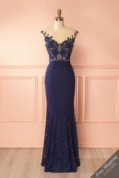 Navy blue sweetheart neckline lace mermaid gown, perfect for prom season or for bridesmaids. Mermaid Gown, Lace Mermaid, Mermaid Evening Gown, Prom Dresses 2016, Evening Dresses, Party Dresses, Navy Blue Bridesmaid Dresses, Fantasy Dress, Dress Cuts