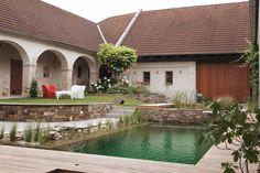 WOHNHAUS PERCHTOLDSDORF - kramer und kramer Water Features In The Garden, Water Garden, Outdoor Decor, Life, Home Decor, Architecture, Plants, Homes, House