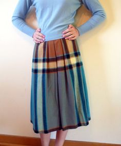 50s skirt  1950s full skirt   plaid skirt  by QuinceVintage, $34.60