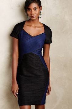 Maeve Ravenna Pencil Dress: I like the criss-cross detail on the front.
