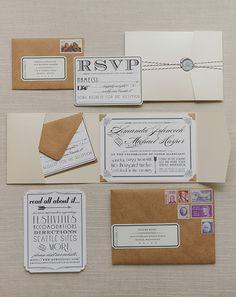 Vintage glam wedding stationery | photo by Yvonne Wong | 100 Layer Cake
