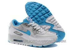 buy popular 31cd6 da545 Nike Air Max 90 Womens Babyblue White Grey Christmas Deals 2mt3R