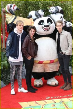 The Vamps Meet Up With Po at 'Kung Fu Panda 3' Premiere in London: Photo #937903. The Vamps run into Po on the red carpet at the premiere of Kung Fu Panda 3 held at Odeon Leicester Square on Sunday afternoon (March 6) in London, England.    The…