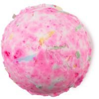 Supernova Bath Bomb | Lush Kitchen November 2014 - This bomb is a corker! Pop in the bath for an uplifting champagne-scented galaxy of sweet orange, cognac and lime oils. Spiralling confetti releases to create truly decadent revelry.