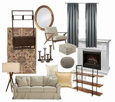 Working on an idea board for our living room #ontheblog. Zach loves midcentury and I'm not that into it but we're trying to blend our styles...so much harder than I thought!  Any suggestions? #homedecor #decor #update #design #midcentrymodern #traditional #thetravelersnest #style #home #livingroom #decorating #ideaboard #linkinbio by the_travelersnest