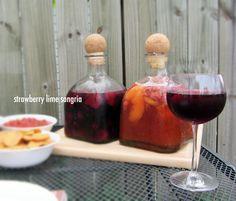strawberry lime and raspberry peach sangria recipes