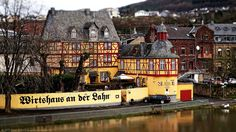 "Tavern on the Lahn"" in Lahnstein/Germany (Tilt-Shift)/""Wirtshaus ..."
