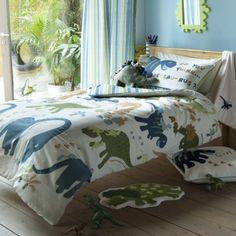 Catherine Lansfield Dinosaur Single Duvet Cover
