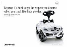 BABY POWDER, Mercedes AMG, Jung Von Matt/Alster Hamburg, Mercedes-AMG, Print, Outdoor, Ads