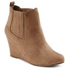 Women's Merona™ Lilly Wedge Booties - Sand
