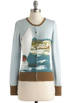 How About that View? Cardigan, #ModCloth