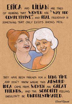 Carol Rossetti drawings -- so much fierce love for my female friends!