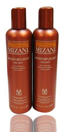 "Mizani Moisturfusion Milk Bath 8.5oz ""Pack of 2"" by MIZANI. $14.90. Mizani Moisturfusion Milk Bath 8.5oz ""Pack of 2"". This conditioning bath completes the cleansing process as dry hair is quenched with a formula enricehd with moisturizing milk of almond and silk proteins. Leaves hair clean, smooth, and easy to comb.   Directions for use: Apply a generous amount of shampoo to hair, lather and rinse with tepid water. Repeat as necessary. Follow directly with Moisturfusio..."