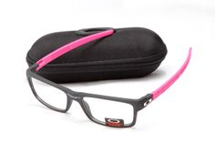 Black Pink Frame Clear Lens Oakley Currency Sunglasses International Brand