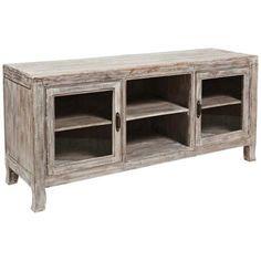 Aria Distressed Wood Plasma Tv Cabinet