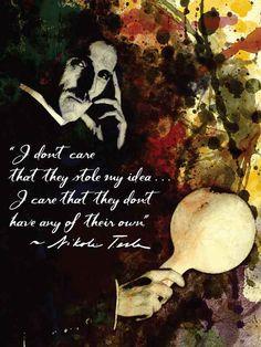 Nikola Tesla  Quote Poster Movie Art Poster Print by FADEGrafix, $14.95