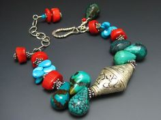 Antique style Tibetan Repoussee handcrafted bracelet