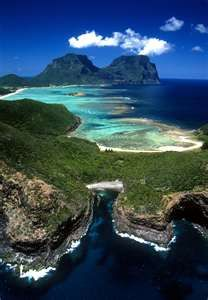 the gorgeous environmentally protected Lord Howe Island, Australia ... off the coast, north of Sydney.