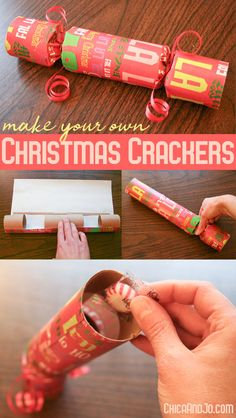 christmas traditions Make your own traditional English Christmas crackers English Christmas Crackers, Diy Christmas Crackers, Homemade Christmas, Homemade Xmas Gifts, Christmas Cookies, Christmas Night, Christmas Holidays, White Christmas, Crackers Noel