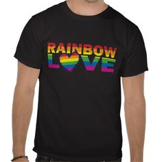 Gay Pride Rainbow Love Heart Tees.  $35.95