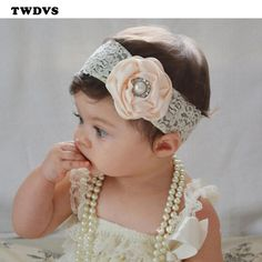 TWDVS Baby Lace Band Flower Headband Toddler Wrap Baby Headwear Girls Hair Accessories W239