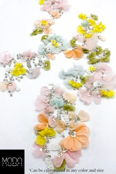 Excited to share the latest addition to my shop: bymodaartisans Wedding Lace Fabric in Pastel Colours with Silk Flowers - Beaded Pastel Floral Lace,Couture Floral Applique for wedding,Capelet Fabric. Embroidery Fashion, Floral Embroidery, Beaded Embroidery, Couture Embroidery, Simple Embroidery, Fabric Beads, Lace Fabric, Beaded Flowers, Silk Flowers