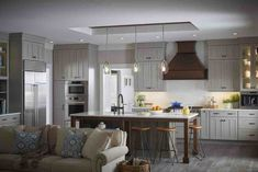 Pendant kitchen lights in the ReNewable Energy Home