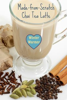 If you love your local coffee shop's chai tea latte, you got to try this! This spiced tea will make you smile and warm your belly.  #chai #latte