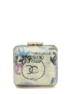 Vintage Chanel Graffiti lame minaudiere