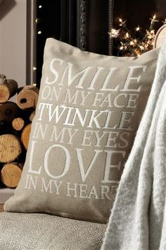 Buy Smile Sparkle Cushion from the Next UK online shop